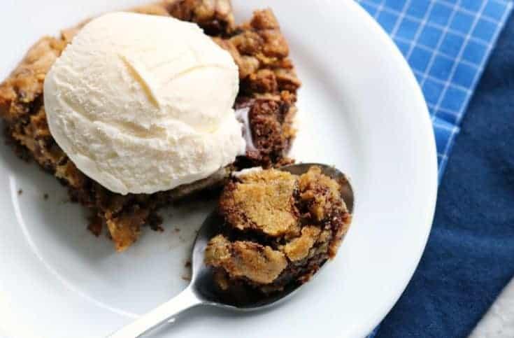 Low Carb Skillet Cookie- Decadent. Gooey. Chocolatey.