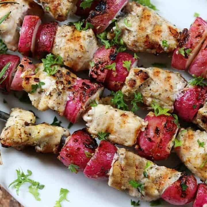Keto Diet Dinner Keto Grilled Chicken And Radishes Potato Substitution