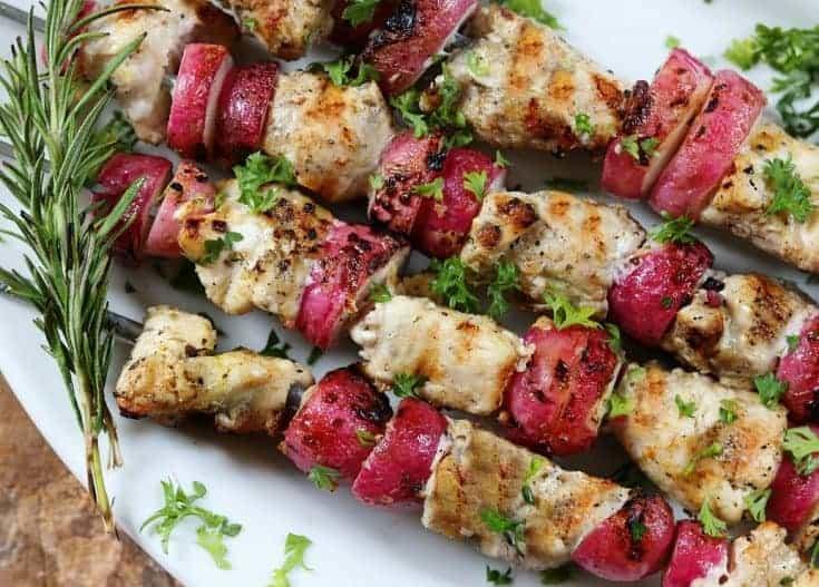 Keto Diet Chicken & Radishes