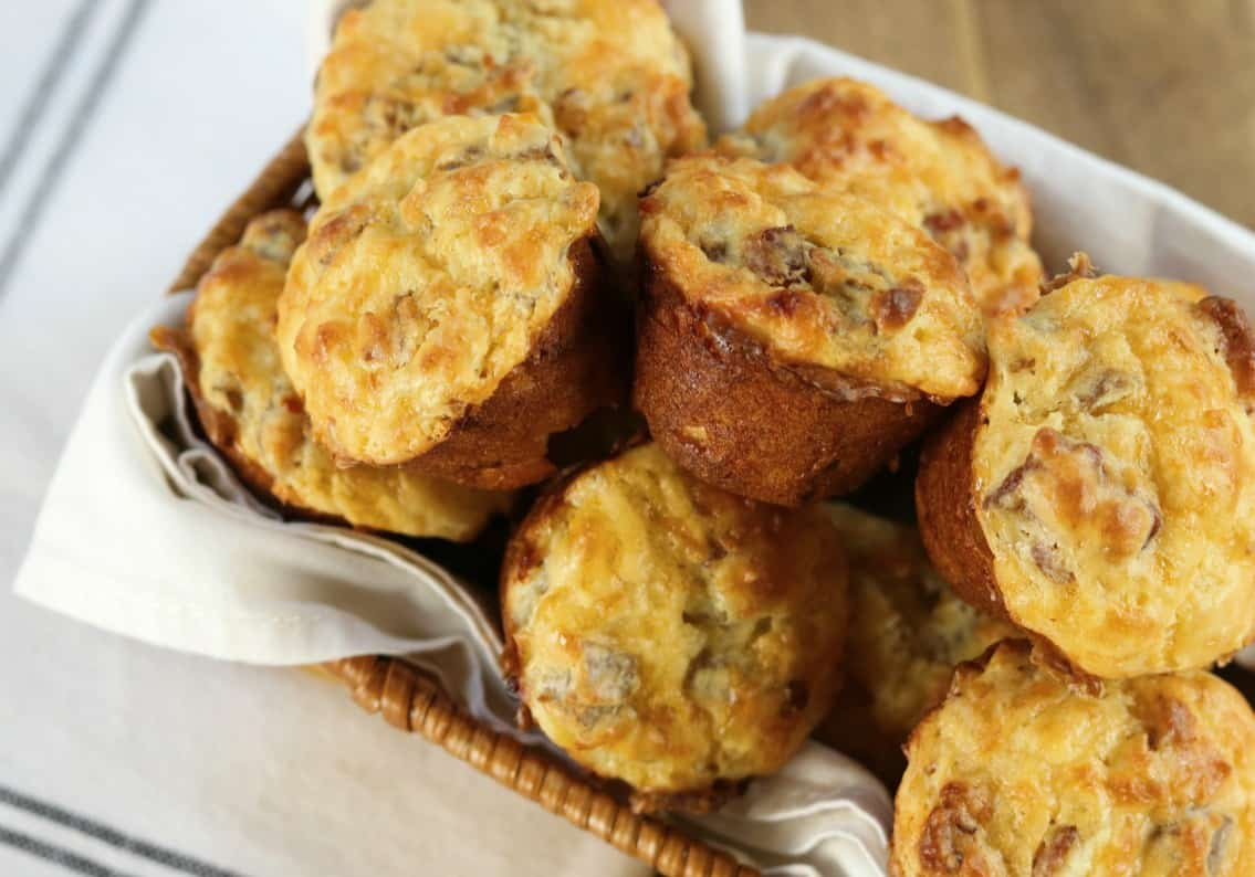 keto egg cups in a basket