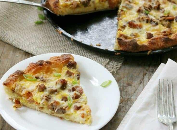 Keto Breakfast Pizza- Meat Lover's Style
