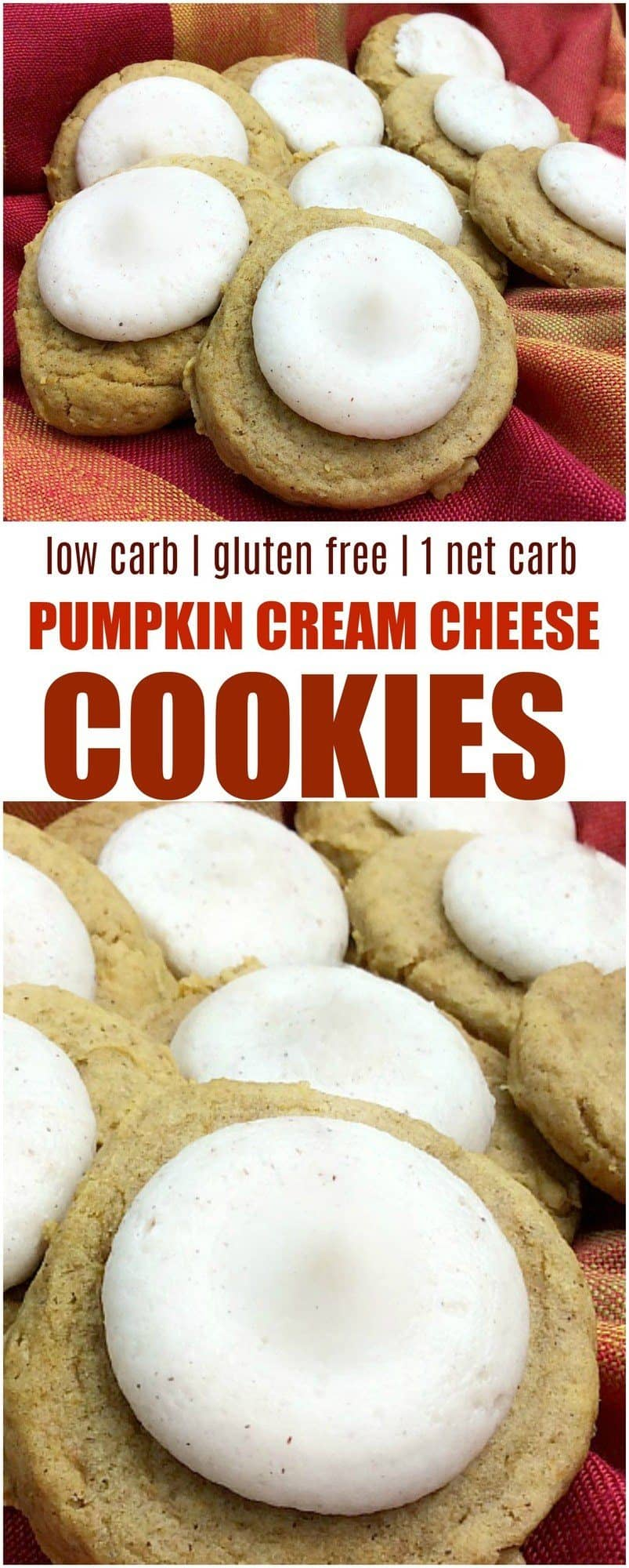 LOW CARB Pumpkin cream cheese cookies