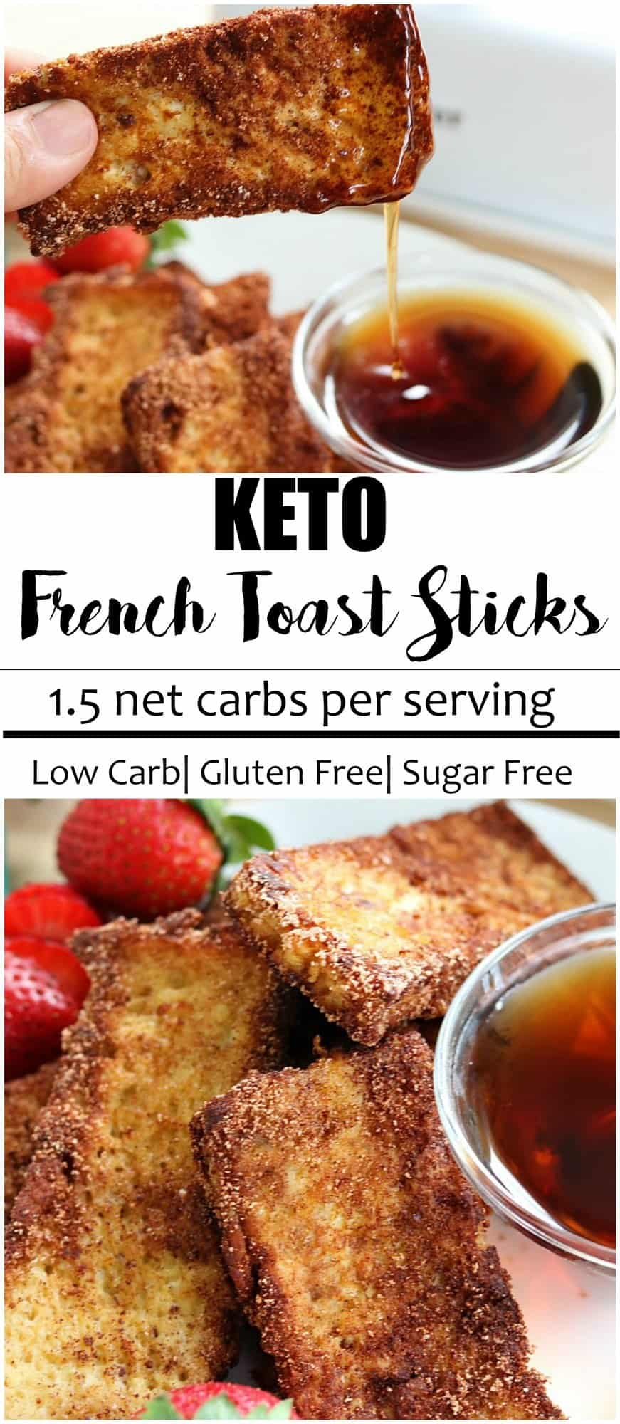 KETO FRENCH TOAST STICKS CINNAMON ONLY 1 5 NET CARBS PER SERVING