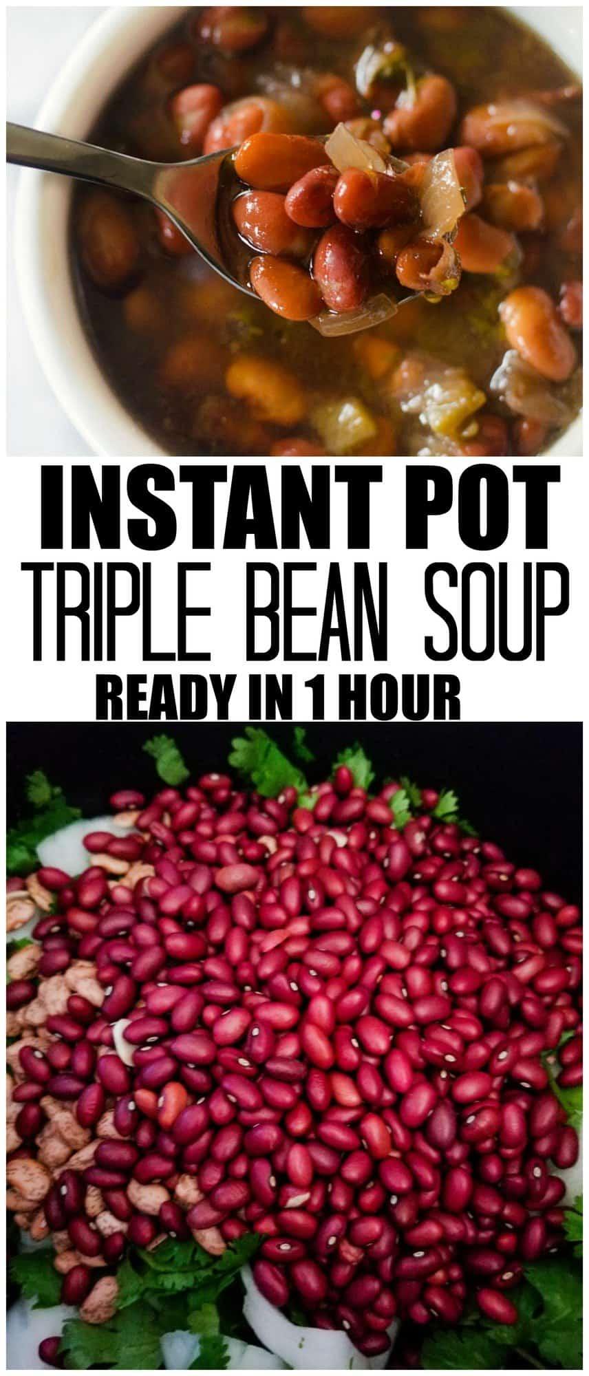 instant pot triple bean soup