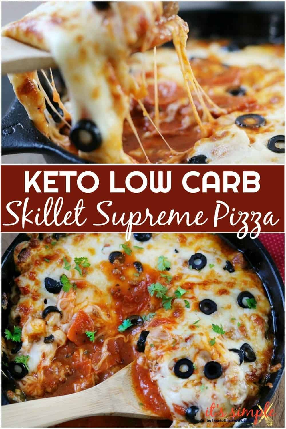 keto low carb skillet pizza