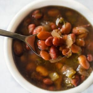 instant pot triple bean soup