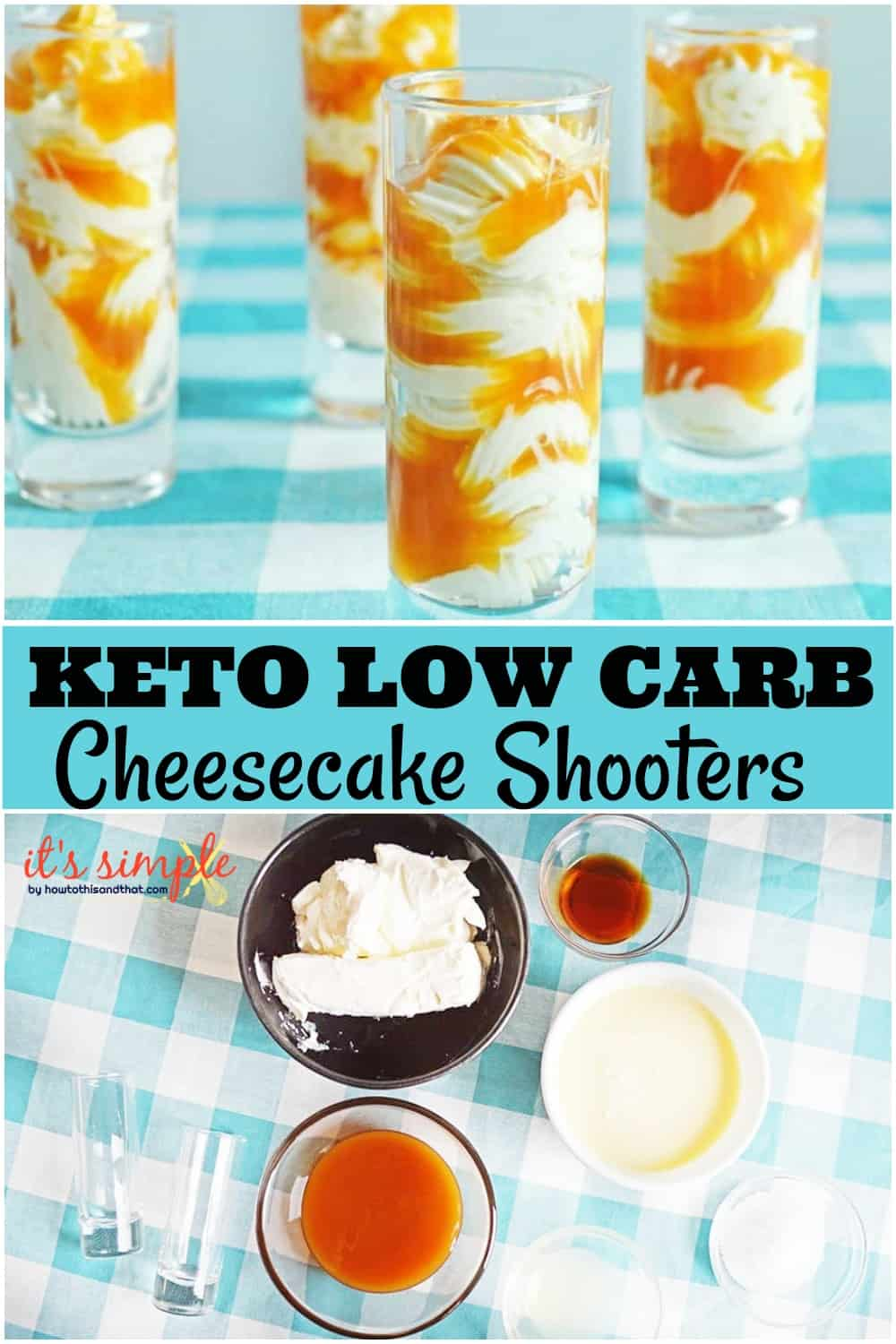 keto low carb cheesecake shooters