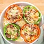 Keto Stuffed Peppers- Jambalaya Style
