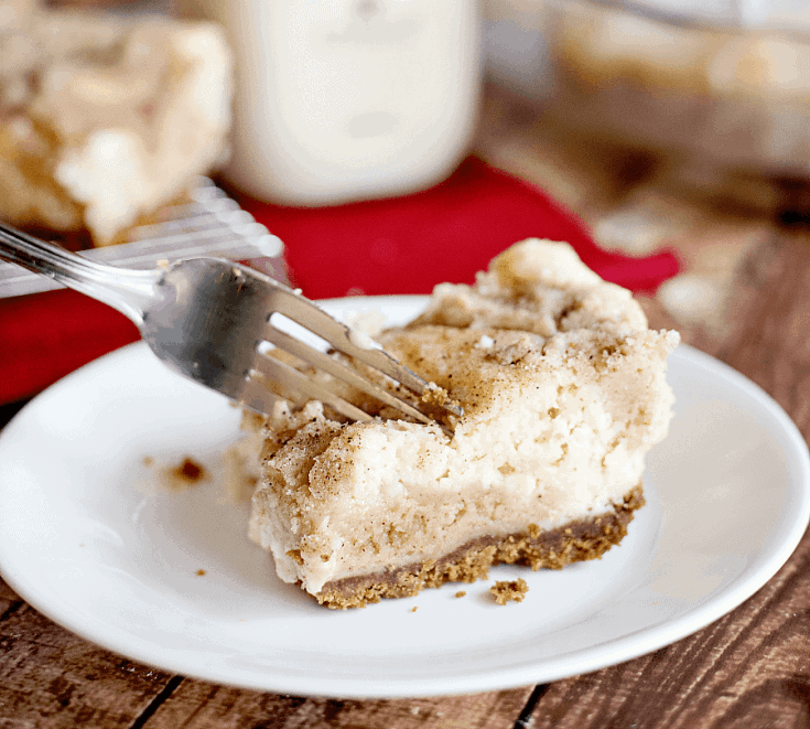 Keto Cheesecake Bars- Snickerdoodle Style!