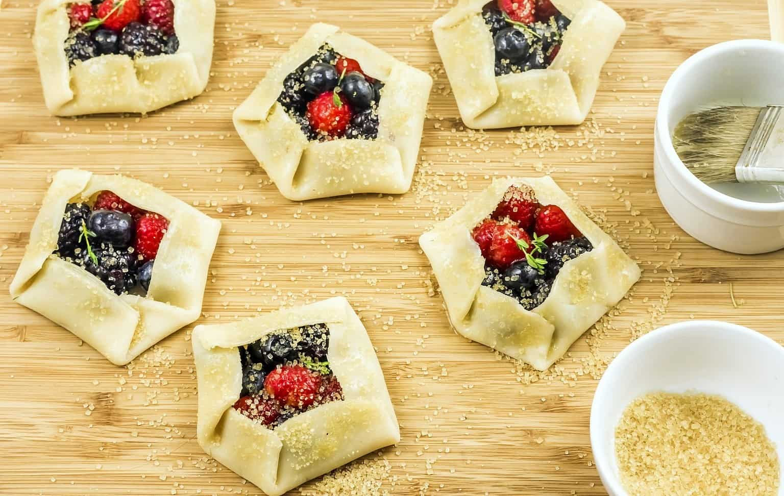 keto berry galettes