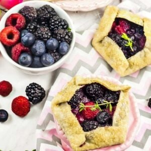 keto triple berry galettes