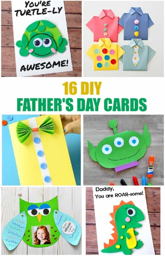 simple DIY father's day cards