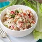 Simple BLTA Chicken Salad