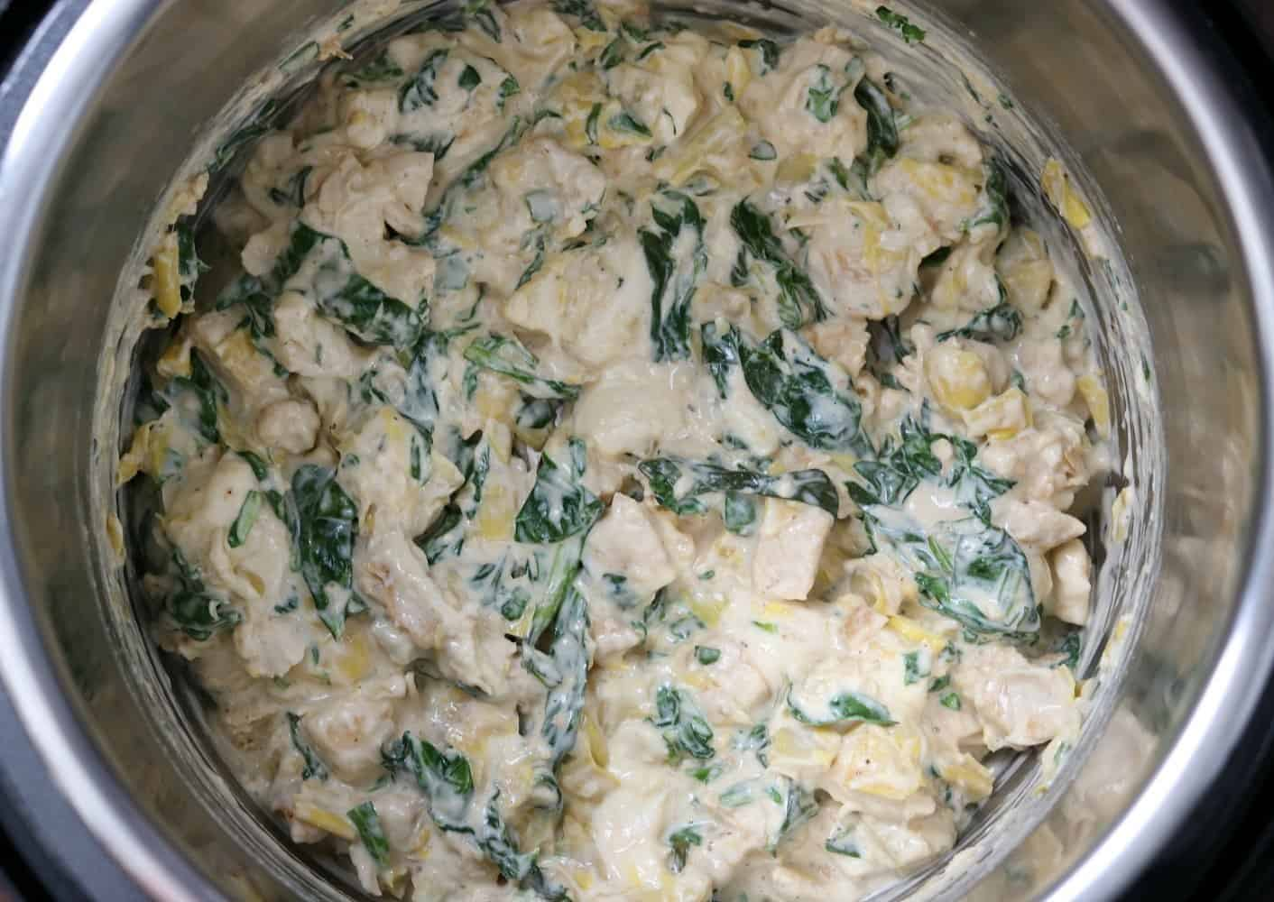 instant pot spinach artichoke chicken