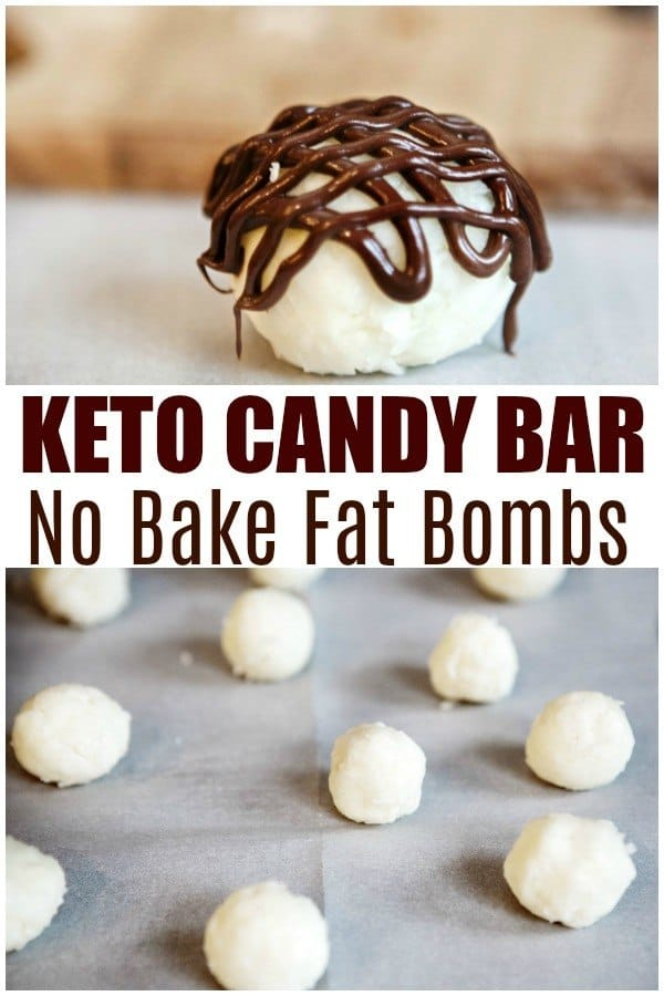 keto candy bar fat bombs