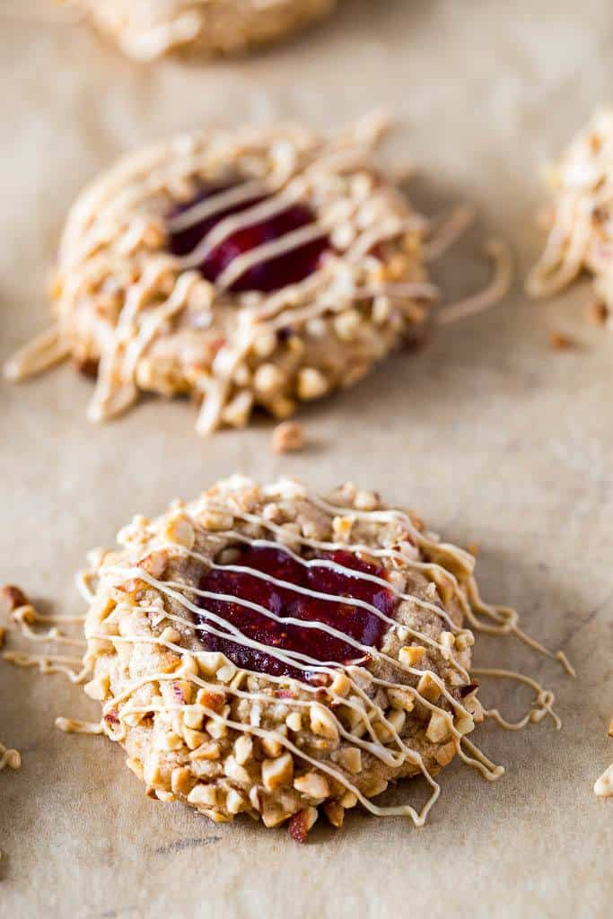 keto peanut butter & jelly cookies