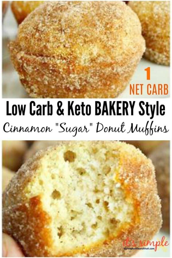 keto donut muffins