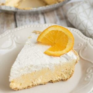 Low Carb No Bake Creamsicle Pie
