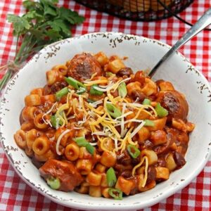 Spicy Sausage, Bean And Pasta Soup