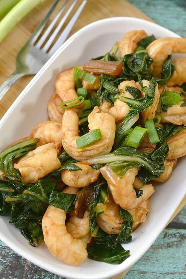 Keto Asian Glazed Shrimp with Bok Choy