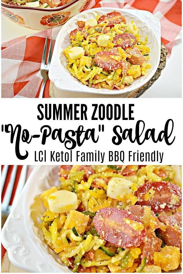 keto zoodle salad