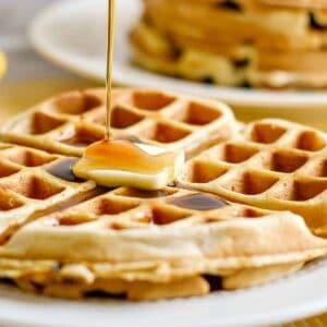 banana belgian waffles