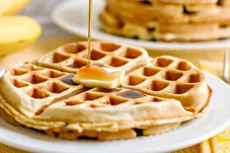 Easy Banana Belgian Waffle Recipe