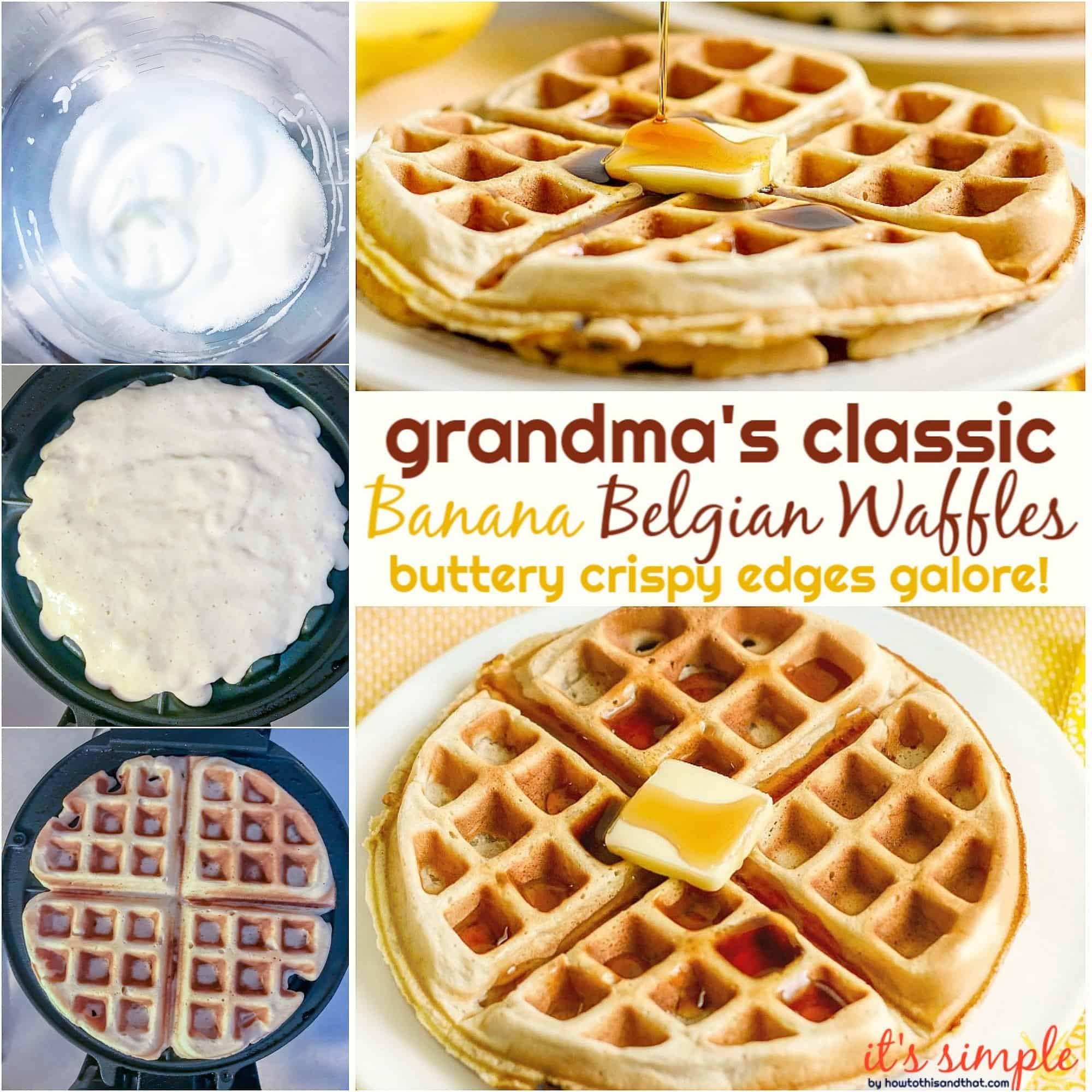 banana belgian waffle