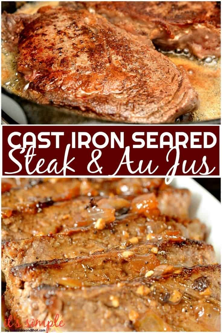 cast iron pan seared steak