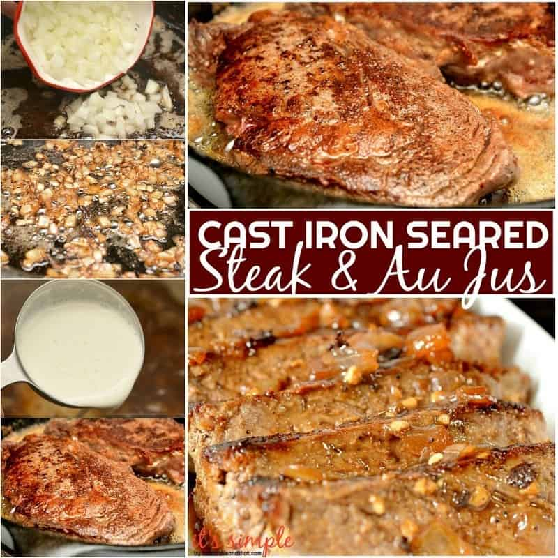 cast iron seared