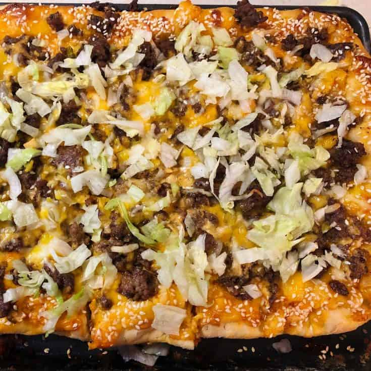 Easy Keto Big Mac Pizza