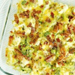 keto bacon cauliflower casserole