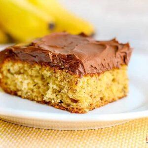 simple banana cake