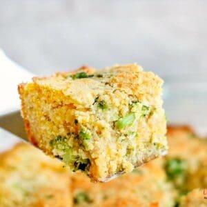 low carb broccoli cheddar cornbread