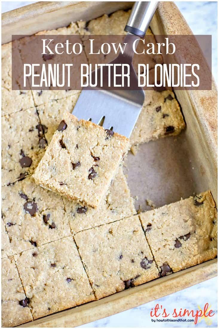 keto blondie brownies