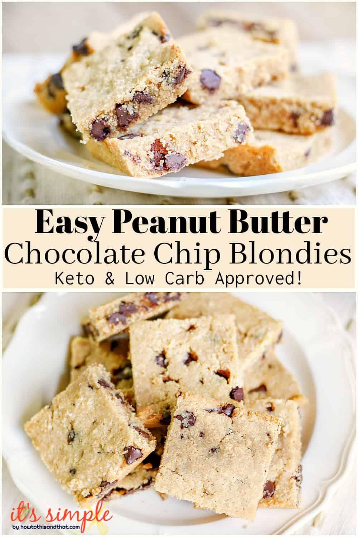 keto peanut butter blondies