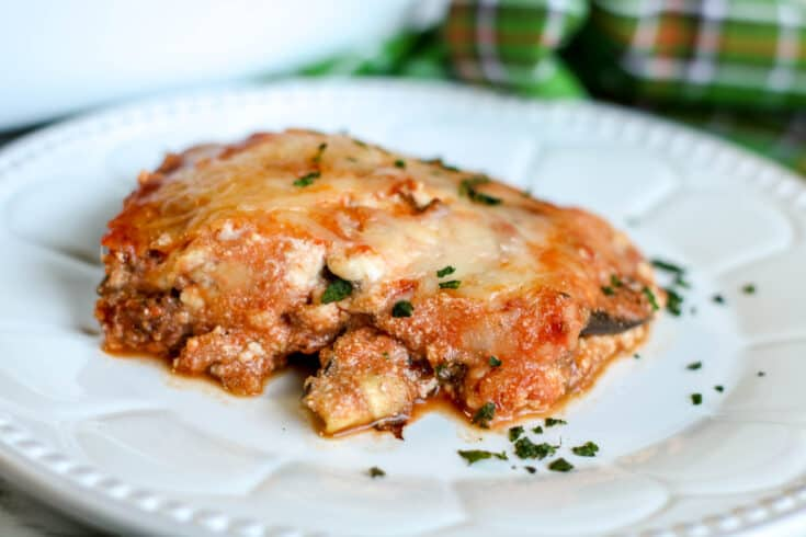 Keto Eggplant Lasagna with Homemade Meat Sauce