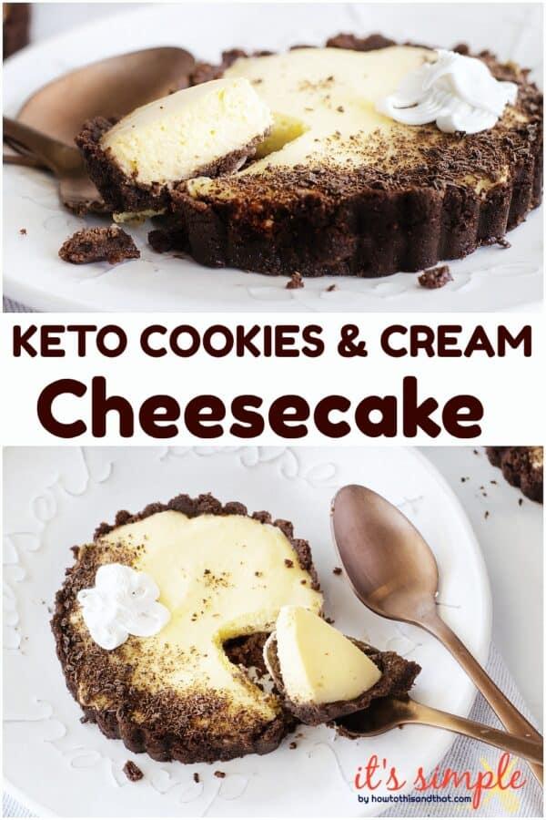 keto oreo cheesecake