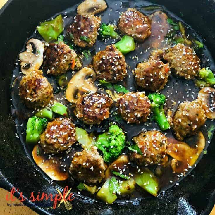 Keto Sesame Chicken Meatballs