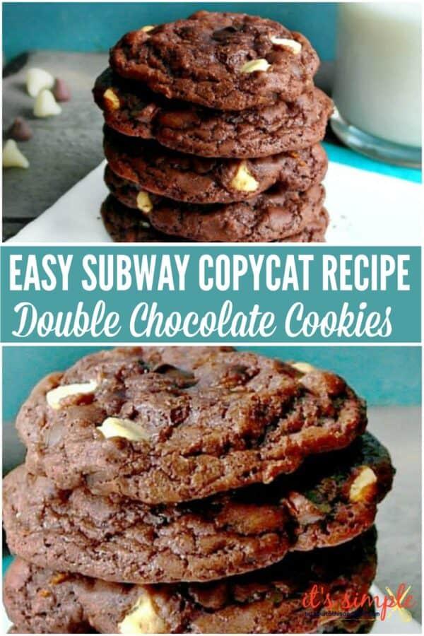 Subway Copycat Double Chocolate Cookies