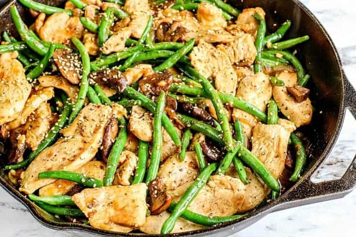 Keto Green Bean and Chicken Stir Fry