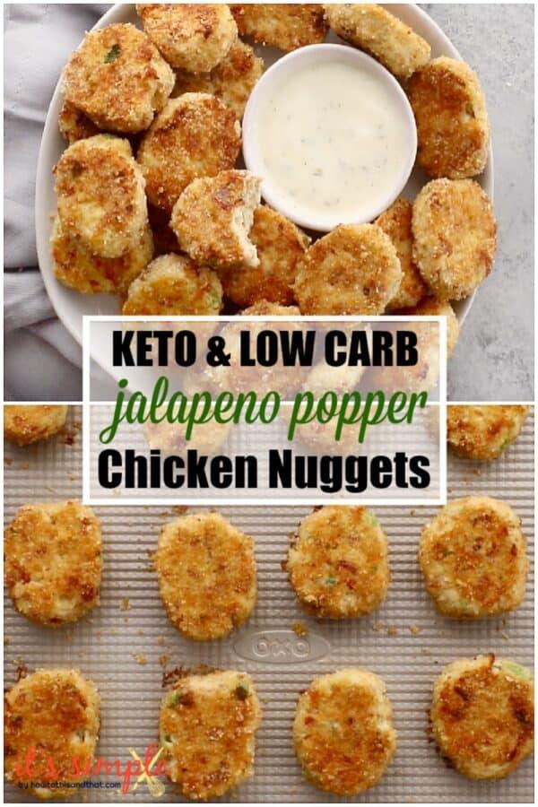 keto jalapeno popper chicken nuggets
