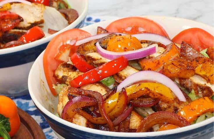 Easy Chicken Fajita Bowl